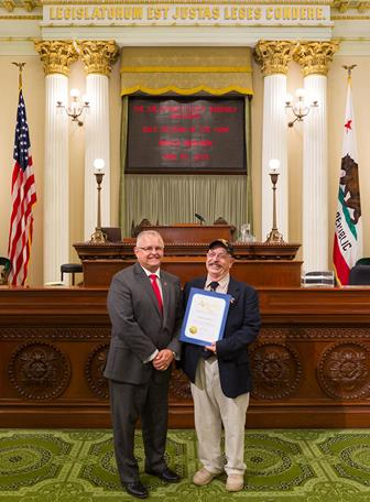 Assemblyman Tom Lackey (left) and Dennis Anderson Wednesday, June 24, at the State Capitol. (contributed)